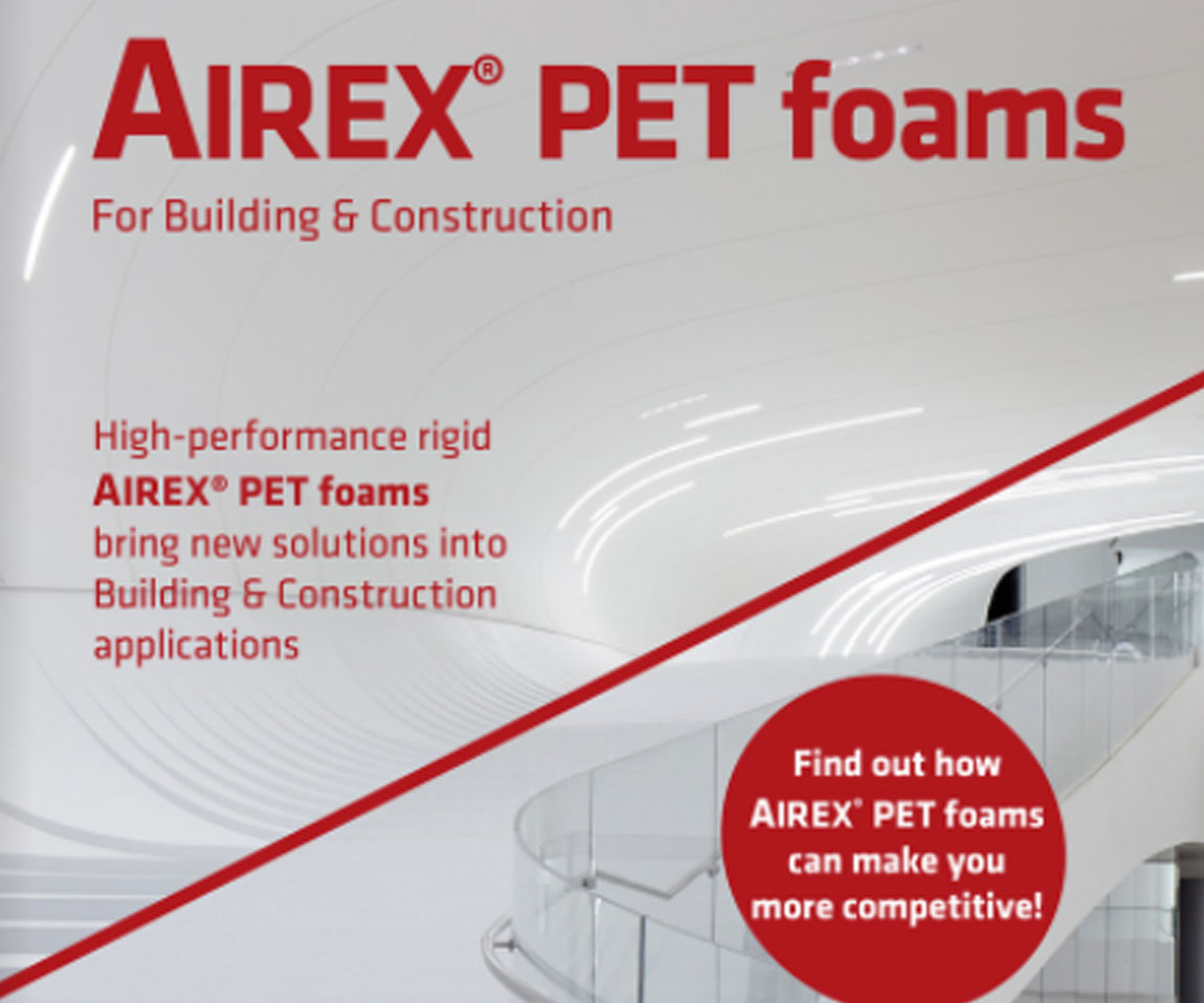 3A Core Materials – AIREX® PET foams for building and construction